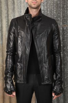 Carol Christian Poell - Jacket Leather Jacket with Arthroscopic elbows and hands http://shopnumber4.com/men/brands/carol-christian-poell/carol-christian-poell-jacket.html
