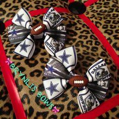 Dallas Cowboys Bows Made by Brynlis Bows