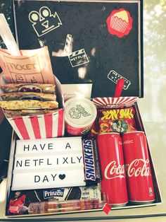 Halloween Gift Baskets, Halloween Gifts, Bff Birthday Gift, Birthday Presents, Husband Birthday, Redbox Gift Card, Movie Night Gift Basket, Halloween Movie Night, Netflix Gift
