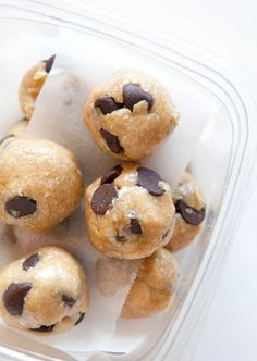 Raw Vegan Chocolate Chip Cookie Dough Bites (gluten-free, soy-free)