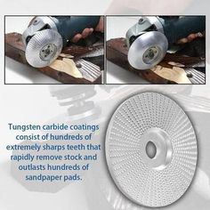 Tungsten Carbide Grinding Wheel – Ohh My Dealz Wood Carving Tools, Wood Tools, Disco Abrasivo, Sanding Wood, Curved Wood, Must Have Tools, Angle Grinder, Rotary Tool, Tungsten Carbide