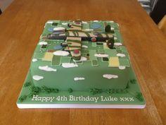 Lancaster Bomber cake x www.facebook.com/fireflycakes