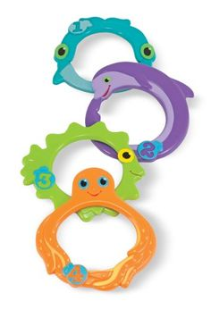 Melissa  Doug Sunny Patch Maritime Mates Sink and Seek Diving Rings  Pool Toy for Kids ** Click image for more details. Note:It is Affiliate Link to Amazon.