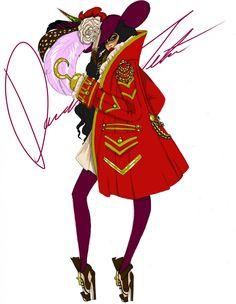….*☆.¸.☆*' ….*☆.@@ ☆*' .*☆.@@@@☆*' ….@@@@@@ …☆*@@@@`*☆.¸¸ …….||///. ……..||//. ………ƸӜƷ. ♥ ♥|/..♥♥ ♥ ♥♥Daren J Disney villains, Captain Hook by Daren J
