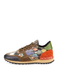 Valentino Butterfly Camouflage Rockstud Sneaker. I love the idea of butterfly patterning mixed into shoes. But this price is wayyy out of my range.