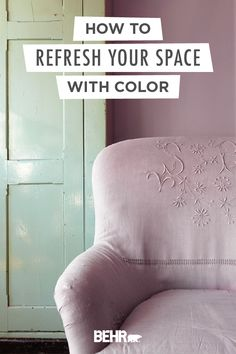When it comes to picking on-trend paint colors for your home, Behr Paint is the perfect place to start. Take this vintage seating area, for example. Featuring the light purple hue of Standing Ovation, this room gives off a soft, antiqued style. Click below to learn more about how you can refresh your space with color.