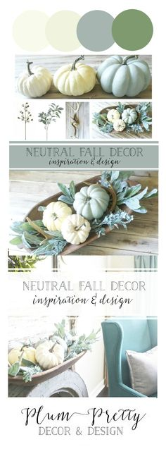 Neutral Fall Decor Inspiration and Design- Plum Pretty Shares their Fall Decor Plans and Gives a DIY Tutorial on a Fall Dough Bowl Centerpiece.