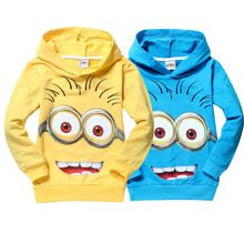High Quality Despicable Me 2 Minion Boys T Shirt Kids Minions Clothes Children Child Spring Autumn Hoodies Tops & Tees Christmas(China (Mainland))