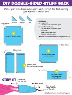 Make Your Own Double-Sided Stuff Sack -by Derek • December 15, 2012