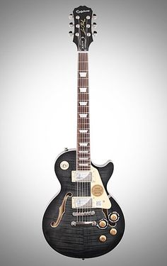 Epiphone's versatile Les Paul ES Pro combines the best features of both solid and semi-hollowbody guitars to create a sound that's fit for rock and roll. Epiphone Les Paul, Les Paul Guitars, Gibson Les Paul, Electric Guitars, Instruments, Tattoo, Gallery, Music, Bass Guitars