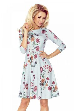 Numoco Globed dress with sleeve - flowers Latest Fashion Trends, Trendy Fashion, Fashion News, Room Wanted, Fashion Company, World Of Fashion, Flare Dress, Sexy Women, Cold Shoulder Dress
