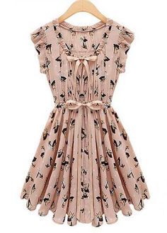 Daily Animal Print Cap Sleeve Dress for Summer | Rosewe.com