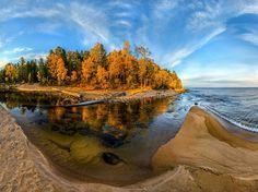 Осень на Байкале Озеро, Байкал, осень, Природа, пейзаж, Россия, Фото, фотография, длиннопост