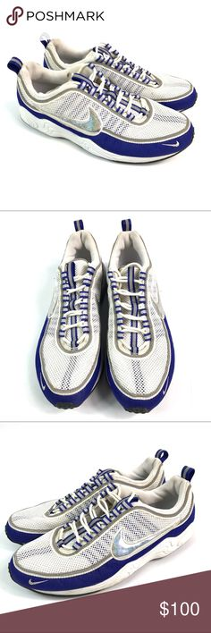 cheap for discount c171a d11df VTG Nike Air Zoom Spiridon Blue White Shoes Good condition. See pictures  for more details