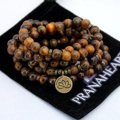 Polished Tiger's Eye Stone Mala Bracelet/Necklace (108 beads)