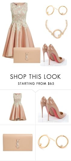 """Pink"" by elvisa-mirsad ❤ liked on Polyvore featuring Christian Louboutin and Yves Saint Laurent"