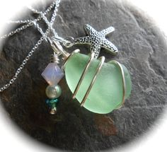 Ariel  Genuine Sea Glass Jewelry  Seaglass by SeaFindDesigns, $25.00