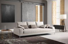 Il design che eleva il comfort: Melody di Samoa divani da 290 cm in tessuto bianco.