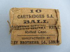 MARTINI HENRY .45/577 ORIGINAL ELEY EMPTY CARTRIDGE PACKET