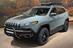 This color though! #2015 #Jeep #Cherokee