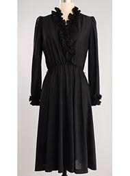 Vintage Dark Shadows Ruffled Dress