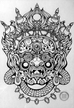 God Tattoos, Body Art Tattoos, Sleeve Tattoos, Maori Tattoo Designs, Tattoo Design Drawings, Asian Tattoos, Black Ink Tattoos, Photographie Street Art, Tibet Art