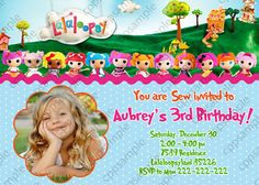 Lalaloopsy Birthday Invitation  Lalaloopsy by CreativePartyPixels, $8.00