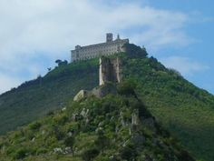 Monte Cassino Abbey, Italy. Founded by St. Benedict of Nursia, the most famous Abbey of the Benedictine Order.