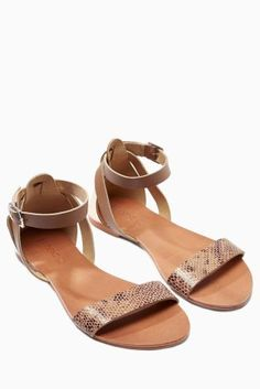 Buy Tan/Snake Two Part Sandals online today at Next: Israel