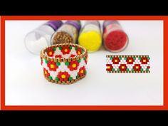 Diy Beaded Rings, Beaded Jewelry, Beaded Bracelets, Tutorial Anillo, Ring Tutorial, Beading Tutorials, Beading Patterns, Making Bracelets With Beads, Peyote Stitch