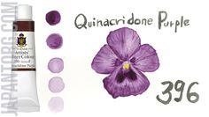 TURNER Artists' Water Colour: Quinacridone Purple - ЯПОНСКИЕ КРАСКИ TURNER #watercolor #quinacridonepurple #purple #turner