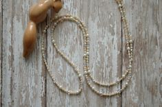 Queen Crown Jewels Renaissance Gypsy Chain Necklaces with ivory pearls and crystals, by AmbientAtelier