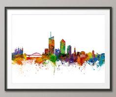 Skyline de Lyon, Lyon France Cityscape Art Print (2203) par artPause sur Etsy https://www.etsy.com/fr/listing/257975635/skyline-de-lyon-lyon-france-cityscape