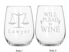 Lawyer Wine Glass Lawyer Gifts Law School Graduation Law School Gift Lawyer Retirement Gift Attorney Wine Glass Lawyer Drinking Glass  sc 1 st  Pinterest & 19 Best Gifts For Law Students images | Gifts for law students Key ...