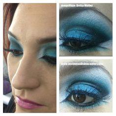 maquillaje en tonos azules por Betsy  www.institutoallskincenter.com