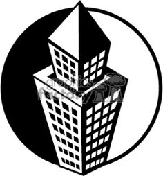 Black and white building 370753 vector clip art image ...