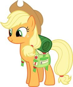 Applejack with camping gear by Synthrid on DeviantArt