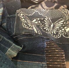 Futon Covers, Rice Bags, Boro, Vintage Japanese, Hand Stitching, Indigo, Layers, Textiles, Kit
