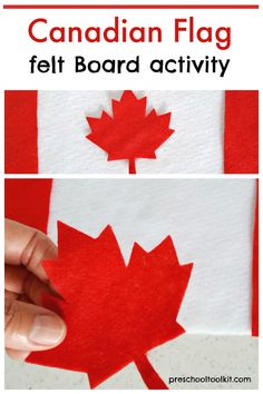 Kids can learn about Canada and its flag with this easy felt board activity. Arrange the felt pieces on a flannel board as you explore the colors and shapes on the Canadian flag. #canadaday Flannel Boards, Family Crafts, Canada Day, Food Festival, Colorful Decor, Activities For Kids, Flag, Shapes, Warm