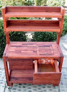 Eli's Redwood Potting Bench