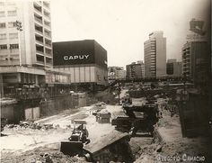 Obras del metro de Caracas Chacaito