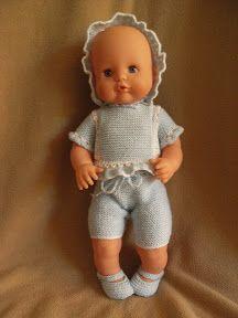 galera: PATRONES DEL NENUCO Baby Born Clothes, Pet Clothes, Sewing Clothes, Doll Clothes, Doll Patterns, Crochet Patterns, Knitted Dolls, Baby Knitting, Barbie Dolls
