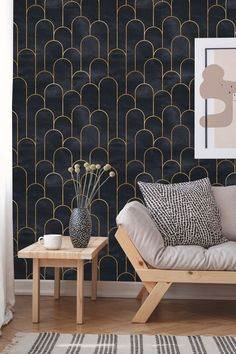 This item is unavailable Removable Wallpaper Peel and Stick Geometric Wallpaper Vintage Wallpaper, Art Deco Wallpaper, Of Wallpaper, Textured Wallpaper, Interior Wallpaper, Wallpaper Accent Walls, Wallpaper For House, Modern Wallpaper Designs, Art Deco Decor