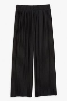 Monki Pleated palazzo trousers in Black