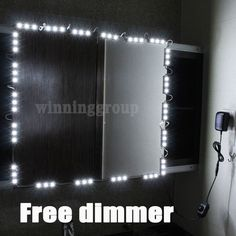 Hollywood Lighted Makeup Mirror LED light kit with Dimmer, LED Vanity light #Unbranded