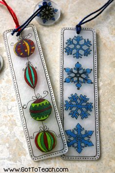 segnalibri bookmarks Shrinky Dinks Holiday Bookmark Craft: Looking for a fun… Shrinky Dinks, Holiday Crafts, Fun Crafts, Crafts For Kids, Arts And Crafts, Plastic Fou, Shrink Plastic, Shrink Film, Shrink Art