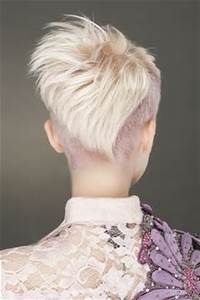 ... choppy shaved-sides womens haircut rear-view hairstyles for women