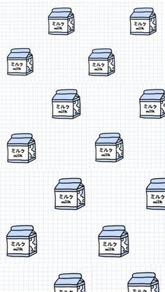 aesthetic, backgrounds, grids, iphone wallpaper, japanese, kawaii, milk, pale, tumblr, wallpaper, ipod wallpaper