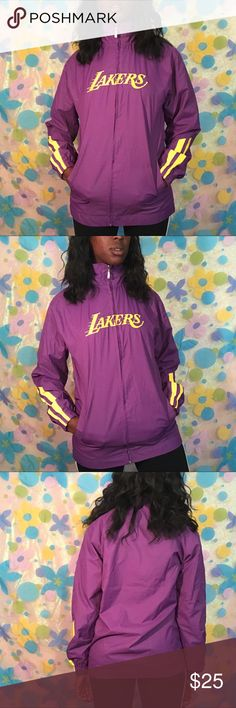 Lakers windbreaker size xs sports gym athletics KOBE!! 🏀🏀⛹🏾 @lalakers windbreaker. Size xs. Perfect condition.  DM TO PURCHASE!! #lakers #basketball #nba #sports #windbreaker #thrift #forsale #outerwear #jacket #kobebryant #shaq #athletics #workout #gym #exercise #depop #poshmark #ebay #vinted #clothing #fall #winter #smallbusiness #blackowned #blackgirlmagic #fan #lakerfan Link Jackets & Coats