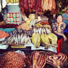 Cambodian fish market